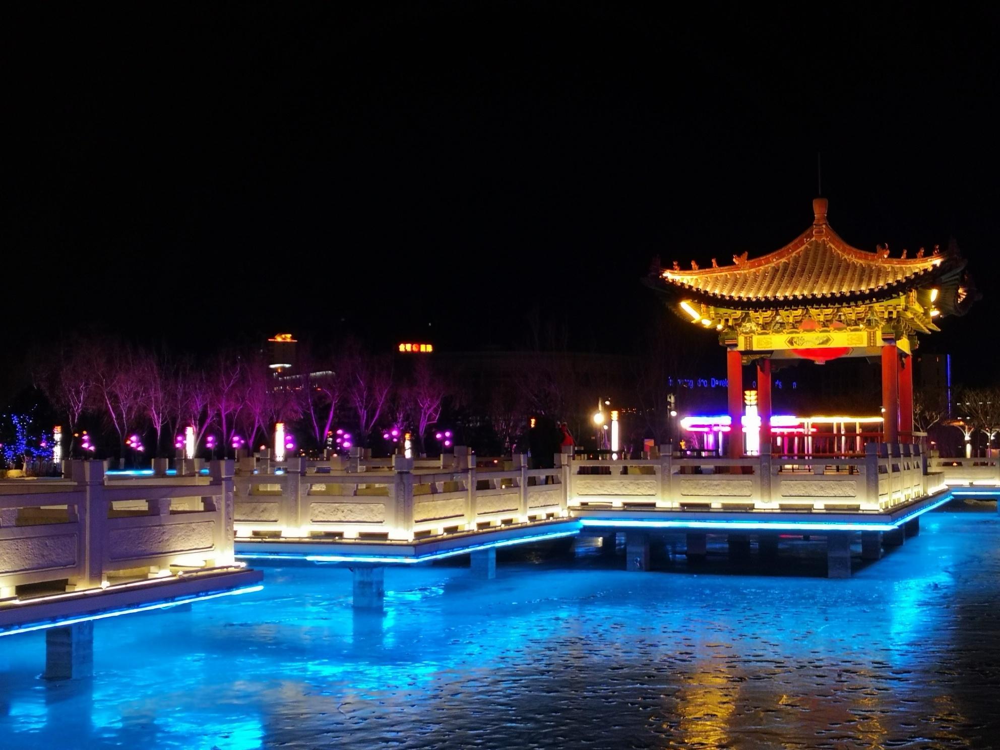 夜游秦皇岛开发区奥体森林公园(正月初八)
