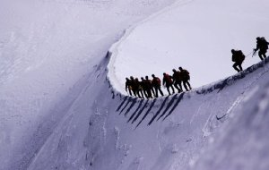 【阿尔卑斯山图片】攀登阿尔卑斯雪山