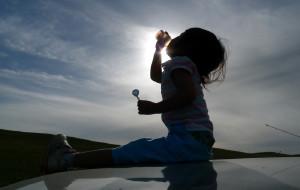 【克什克腾旗图片】小朋友在达理诺尔湖
