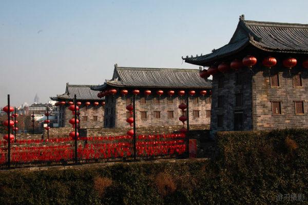 中国现存的最大古城堡 南京中华门图片
