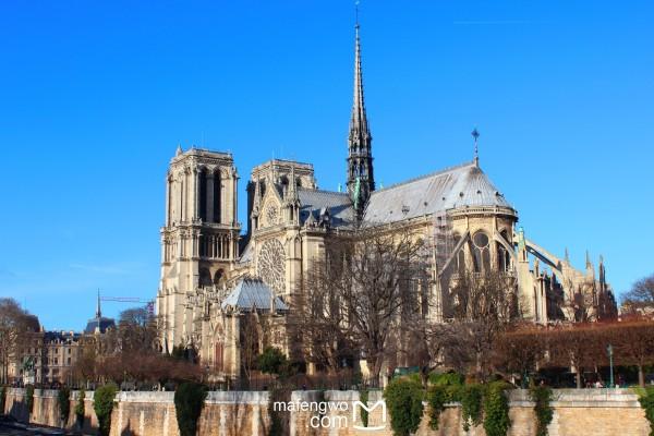 建筑埃菲尔铁塔和最具代表性的哥特式建筑巴黎圣母院