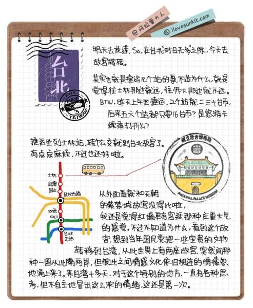 手写+手绘 o(∩_∩)o 14天台湾环岛旅行手帐