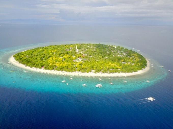 航拍菲律宾薄荷岛