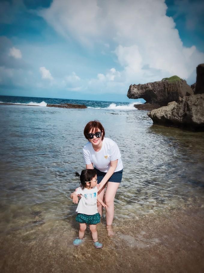 塞班亲子游-赶海的小姑娘快两岁啦