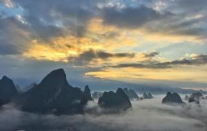 【漓江图片】相公山的云海、漓江的水两者缺一不可。