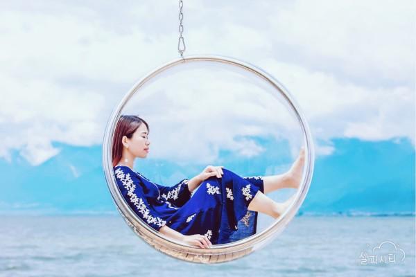 洱海玻璃球照片