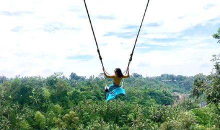 第二人半价哦 巴厘岛乌布丛林荡网红大秋千bali swing