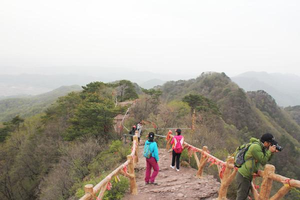 2018年5月5日跟随抚顺足迹户外到梅河口鸡冠山风景区游玩。有很长时间没和这帮驴友出队了,这个群玩摄影的高手多,发到群里的像片都是艺术照。自己也好长时间没登山了,家门口的虎台山太低,强度中上的高山又不敢去,没等到山顶腿肚子就哆嗦了。只能爬一爬这半高不高的适应自己的山。车从抚顺开了三个多小时到公园大门口。鸡冠山和新宾、清源都属于长白山龙岗山脉,是