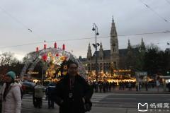 东欧六国之旅...夜游维也纳市政厅广场周边随拍