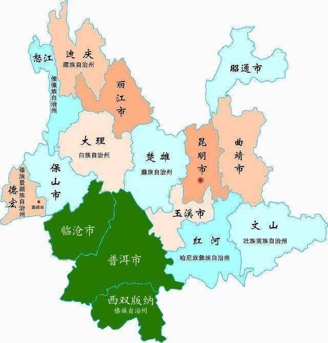 云南普洱市区地图
