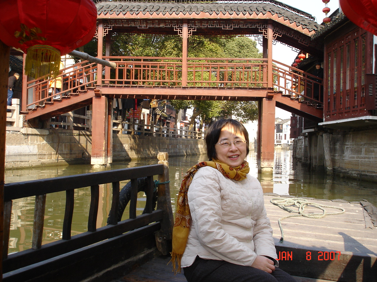 2007年1月7日在上海南京路、8号游朱家角