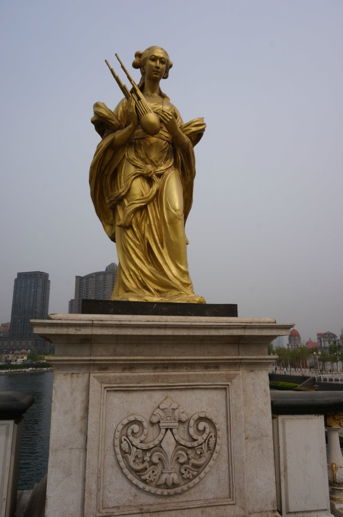 中国梦公益广告 北安桥  北安桥特色雕塑  狮子头的背面,正面狮子头