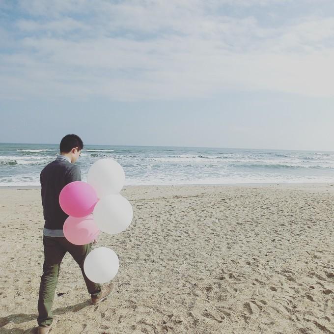 告白气球# 布朗熊与可妮兔の双月湾海边温泉之旅