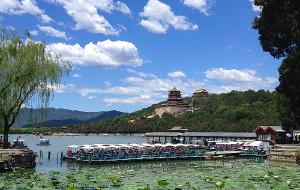 【北京图片】有心赏花荷花开,无意观云祥云来——夏游颐和园