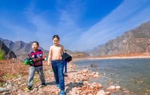 【野三坡图片】#游记小赛# 青山绿水天也蓝,去野三坡撒欢