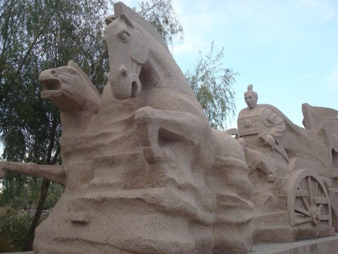 西汉酒泉胜迹雕塑照片