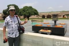 南亚印度佛教之行...参观圣雄甘地陵墓风景区随拍