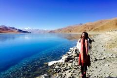 冬の西藏つ去拉萨晒日光