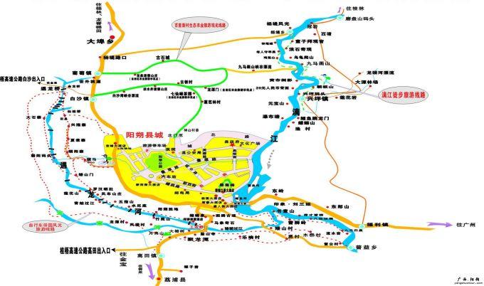 阳朔地图手绘版