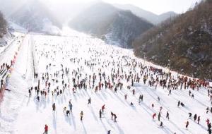 【栾川图片】栾川伏牛山滑雪