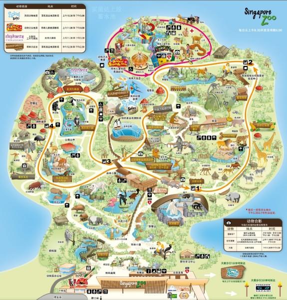 日间动物园地图